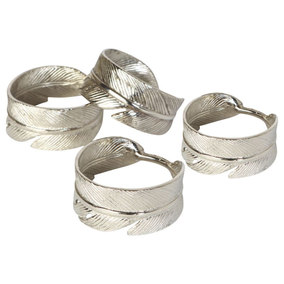 Culinary Concepts Culinary Concepts Feather Napkin Rings, Set of 4
