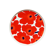Buy Marimekko Unikko Plate, Red Online at johnlewis.com