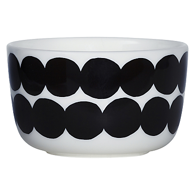 Image of Marimekko Siirtolapuutarha Bowl, White / Black