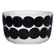Buy Marimekko Siirtolapuutarha Bowl, White / Black Online at johnlewis.com