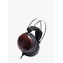 Buy Audio-Technica ATH-W5000 Audiophile Closed-Back Dynamic Ebony Wood Over-Ear Headphones With High-Resolution Audio & Hard Shell Case Online at johnlewis.com