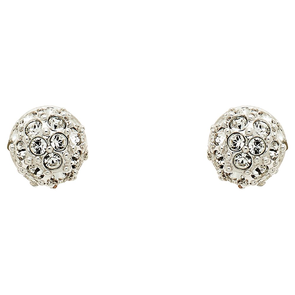 Cachet Cachet Swarovski Crystal Pave Ball Stud Earrings, Silver