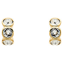 Buy Cachet 3 Swarovksi Crystal Mini Hoop Earrings, Gold Online at johnlewis.com