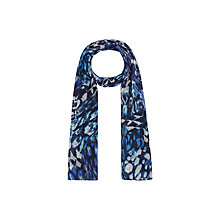 Buy Windsmoor Animal Print Scarf, Blue Online at johnlewis.com