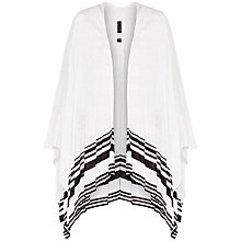 Buy Ted Baker Poleena Striped Detail Knitted Wrap, Grey Marl Online at johnlewis.com