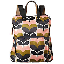 Buy Orla Kiely Stripe Rosebud Print Backpack, Multi Online at johnlewis.com