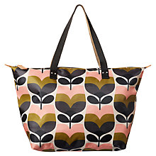 Buy Orla Kiely Stripe Rosebud Print Zip Shopper Bag, Multi Online at johnlewis.com