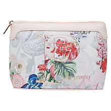 Buy Ted Baker Hayleen A-Z Floral Wash Bag, Ivory Online at johnlewis.com
