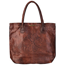 Buy Et DAY Birger et Mikkelsen Logo Thread Leather Shopper Bag Online at johnlewis.com