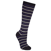 Buy John Lewis Wool and Silk Stripe Knee High Socks, Navy/Dove Grey Online at johnlewis.com