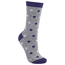 Buy John Lewis Wool and Silk Spot Ankle Socks Online at johnlewis.com