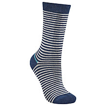 Buy John Lewis Viscose Blend Wide Stripe Ankle Socks Online at johnlewis.com
