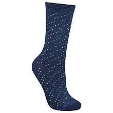 Buy John Lewis Viscose Blend Mini Spot Ankle Socks Online at johnlewis.com
