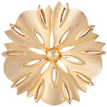 Buy Susan Caplan Vintage 1970s Trifari Gold Plated Flower Brooch, Gold Online at johnlewis.com