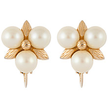 Buy Susan Caplan Vintage 1960s Ciner Gold Plated Faux Pearl Triangle Clip-On Earrings, Gold Online at johnlewis.com