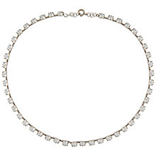 Buy Susan Caplan Vintage 1930s Silver Plated Deco Crystal Necklace, Silver Online at johnlewis.com