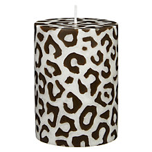 Buy John Lewis Leopard Pillar Candle Online at johnlewis.com