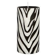 Buy John Lewis Zebra Pillar Candle Online at johnlewis.com