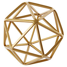 Buy west elm Brass Octahedron, Gold Online at johnlewis.com
