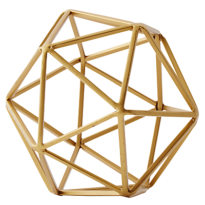 Image of west elm Brass Octahedron, Small