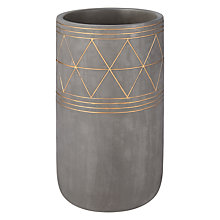 Buy John Lewis Fusion Aztec Large Vase, Grey/Bronze Online at johnlewis.com