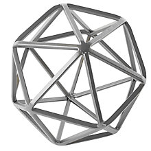 Buy west elm Silver Octahedron, Small Online at johnlewis.com