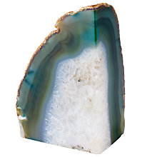 Buy west elm Agate Bookend, Green Online at johnlewis.com