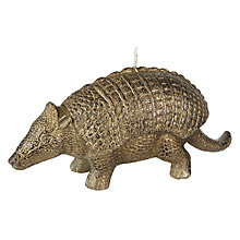 Buy John Lewis Armadillo Candle, Gold Online at johnlewis.com