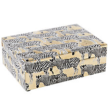 Buy west elm Metallic Zebra Print Box, Small Online at johnlewis.com