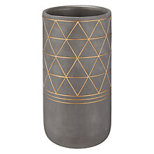Buy John Lewis Fusion Aztec Small Vase, Grey/Bronze Online at johnlewis.com