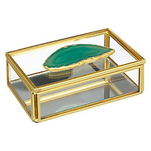 Buy John Lewis Hotel Green Agate Trinket Box Online at johnlewis.com