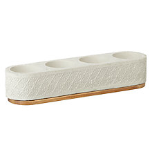 Buy John Lewis Fusion Embossed Fretwork Tealight Holder Online at johnlewis.com