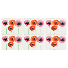 Buy Pimpernel Red Poppies Placemats, Set of 6 Online at johnlewis.com