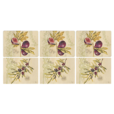 Pimpernel Olive & Fig Placemats, Set of 6