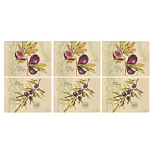 Buy Pimpernel Olive & Fig Placemats, Set of 6 Online at johnlewis.com