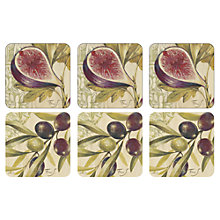 Buy Pimpernel Olive & Fig Coasters, Set of 6 Online at johnlewis.com