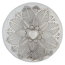 Buy John Lewis Ceramic Filigree Cupboard Knob, White Online at johnlewis.com