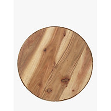 Buy John Lewis Snowshill Acacia Wood & Bark Round Placemat Online at johnlewis.com