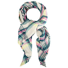 Buy White Stuff Cara Check Scarf, Pink Online at johnlewis.com