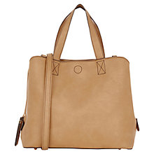 Buy Oasis Tululah Triple Compartment Bag, Tan Online at johnlewis.com