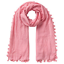 Buy East Silk Blend Pom Pom Scarf Online at johnlewis.com