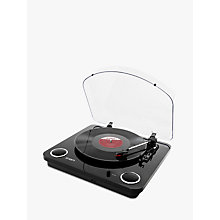 Buy ION Max LP Three-Speed USB Turntable With Built-In Stereo Speakers, Piano Black Online at johnlewis.com