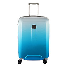 Buy Delsey Helium Air II 70th Anniversary 4-Wheel 64cm Suitcase, Blue Online at johnlewis.com
