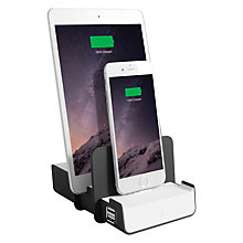 Buy BlueFlame 4-Device Charging Station, 2 Lightning Connectors + 2USB Ports Online at johnlewis.com