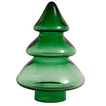 Buy Nordal Christmas Tree Glass Ornament, Large, Green Online at johnlewis.com