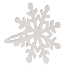Buy John Lewis Scandi Snowflake Napkin Ring, White Online at johnlewis.com