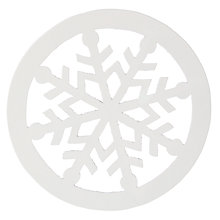 Buy John Lewis Scandi Snowflake Coaster, White Online at johnlewis.com