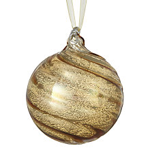 Buy John Lewis Ruskin House Swirl Bauble, Antique Gold Online at johnlewis.com