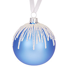 Buy John Lewis Chamonix Glitter Icing Bauble, Blue Online at johnlewis.com