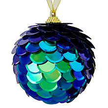 Buy John Lewis Shangri-La Fishscale Bauble, Blue Online at johnlewis.com